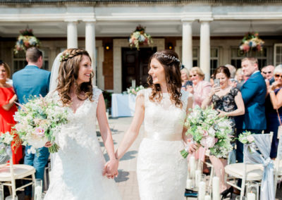 outdoor ceremony at eaves hall