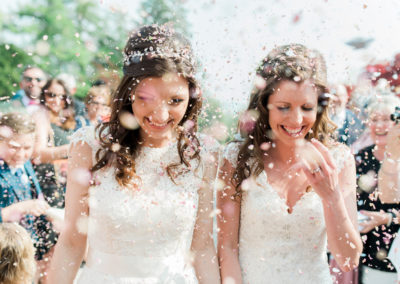 same sex wedding at eaves hall in Clitheroe