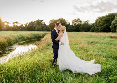 bride and groom in feels at meals hall in southport