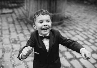 pageboy blowing bubbles
