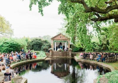 ceremony around a lake