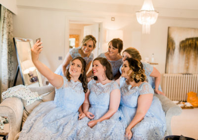 bridesmaid selfie at stanley house