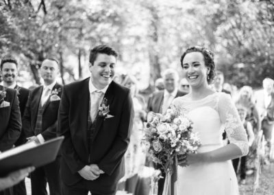 bride and groom vows giggle