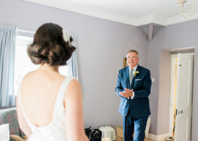 dad's reaction to seeing bride