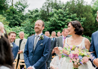 grooms reaction to bride's entrance
