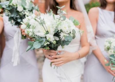 wedding bouquet with eucalyptus