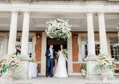 just married at eaves hall hotel