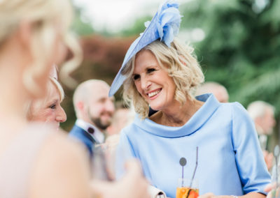 mother of the bride wearing blue