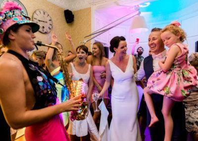 Ellie sax plays wedding