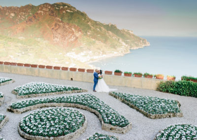 bride and groom at Ravello wedding