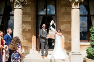 dove release at Walton hall wedding
