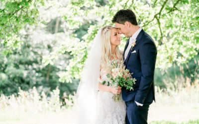 A Rivington Barn Wedding in blush pink